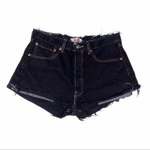 Levi's Vintage 501 Black Cutoff Denim Shorts